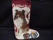 Sheltie Needlepoint Stocking