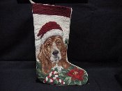 Basset Hound Needlepoint Stocking
