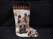 Great Dane Needlepoint Stocking