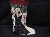 Scottie Needlepoint Stocking