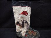 Wheaten Needlepoint Stocking