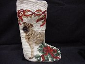 Sharpei Needlepoint Stocking