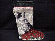 Cat Needlepoint Stocking