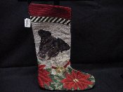 Fox Terrier Needlepoint Stocking