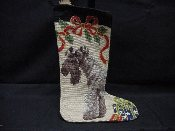 Kerry Blue Terrier Needlepoint Stocking