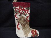 Norfolk Terrier Needlepoint Stocking