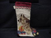 Norwich Terrier Needlepoint Stocking