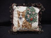 Corgi Holiday Pillow