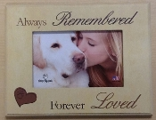 Always Remembered Never Forgotten Picture Frame