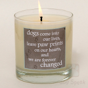 Paw Prints on Heart- Candle