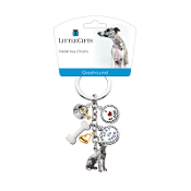Charm Key Chain- Greyhound